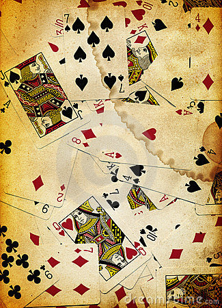 Dirty Playing Cards Background Texture Design Royalty Free Stock Photo - Image: 3825325