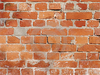 Dirty Red Brick Background 1