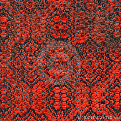 Dirty red fabric