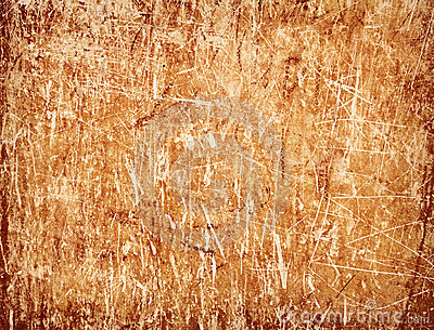 Dirty scratched old wall - shit color background
