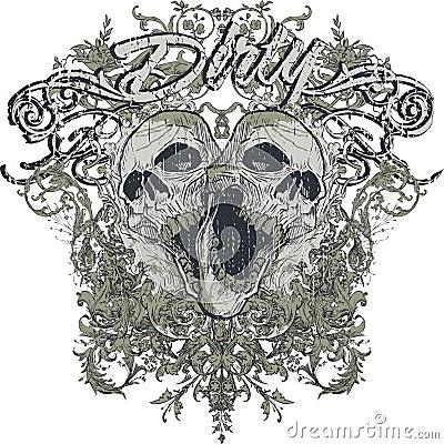 Free Dirty Screaming Skulls Stock Photos - 4333993
