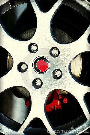 Dirty Sport Car Wheel