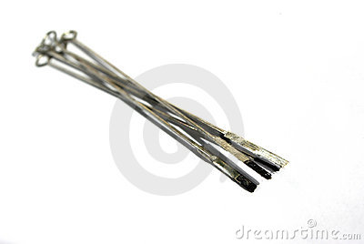 Dirty tattoo needle
