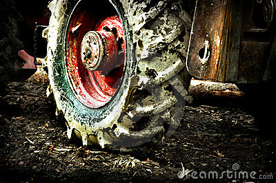 Dirty tractor
