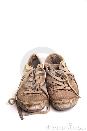 Dirty Training Shoes Royalty Free Stock Image - Image: 20067466