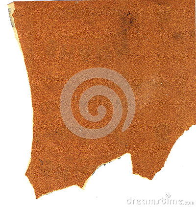 Free Dirty Used Coarse Wood Sandpaper With Ragged Edges On White Background Royalty Free Stock Photo - 79192615