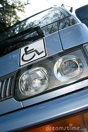 Disability sign on the car