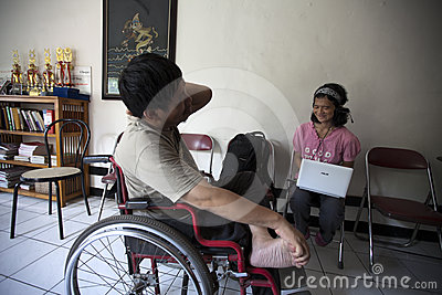 Disability youth discussion Editorial Image