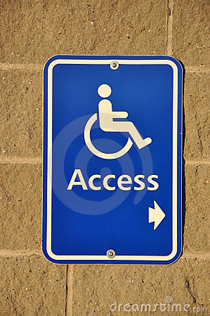 Disable access sign