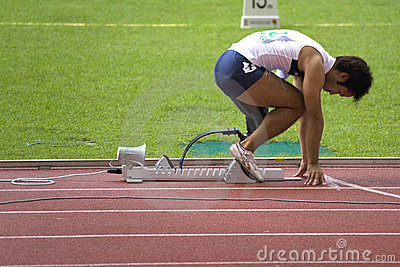 Disabled Athlete Editorial Stock Photo