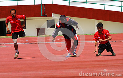 Disabled athletes Editorial Stock Photo