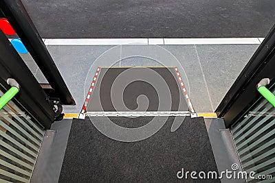 Disabled bus ramp