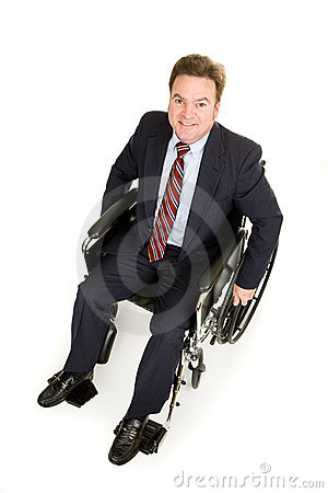 Disabled Businessman from Above