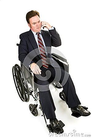 Disabled Businessman - Serious Conversation