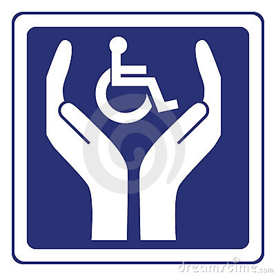 Free Disabled Care Sign Vector Stock Photos - 12240253