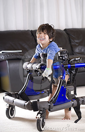 Free Disabled Child In Walker Stock Photos - 12541603