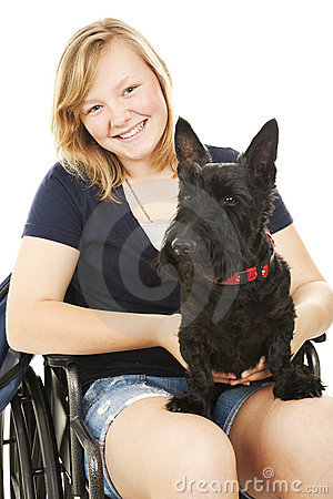 Disabled Girl with Dog