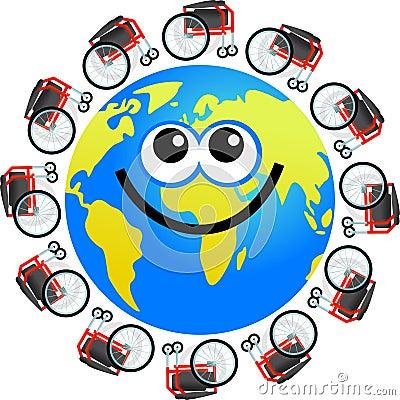 Disabled globe