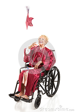Disabled Graduate Tosses Cap