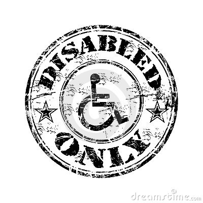 Disabled grunge rubber stamp