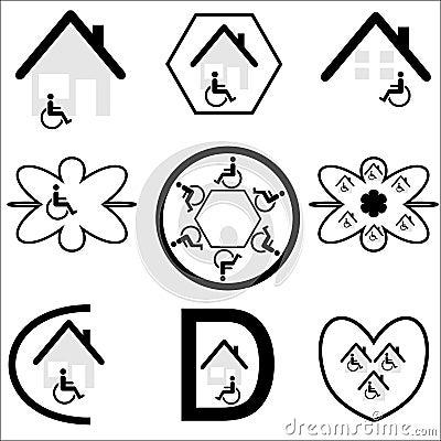Disabled Housing Logo Set