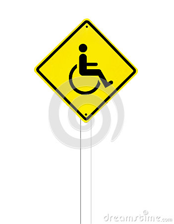 Disabled icon sign on a white