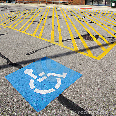 Free Disabled Parking Sign Royalty Free Stock Images - 16870989