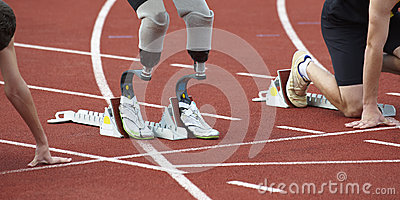 Disabled person in sport