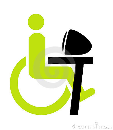 Disabled person on wheel chair