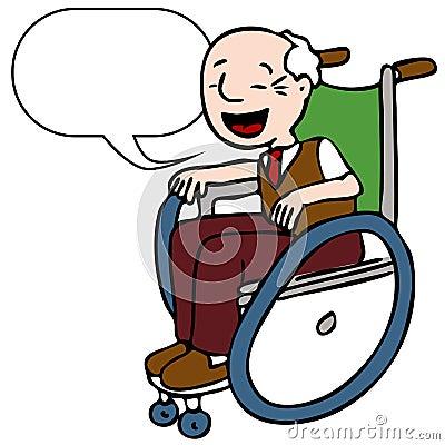 Disabled Senior Man Speaking
