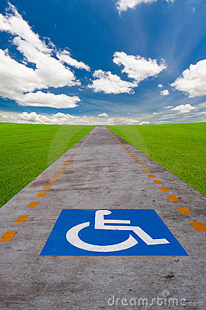 Free Disabled Sign Board Royalty Free Stock Image - 16999056