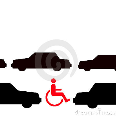 Disabled in traffic