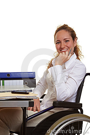 Free Disabled Woman At Work Royalty Free Stock Photo - 20600985