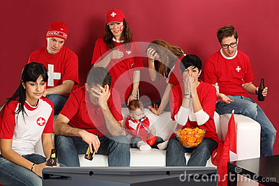 Disappointed Swiss sports fans