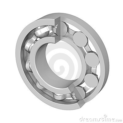 The disassembled ball bearing