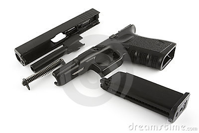 Disassembled firearm