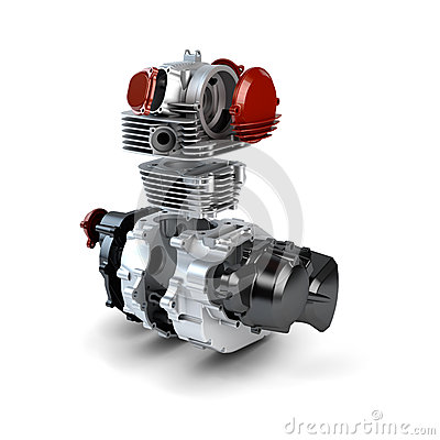 Free Disassembled Motorcycle Engine Royalty Free Stock Photo - 27446695