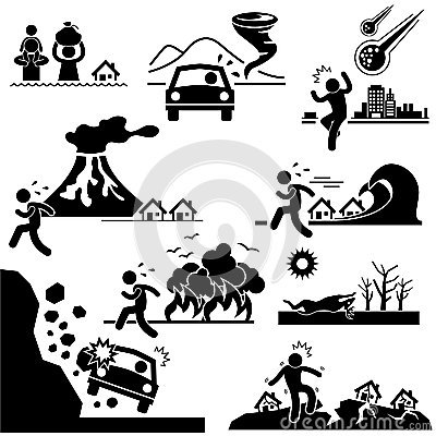 Free Disaster Doomsday Catastrophe Pictogram Stock Photo - 27880410