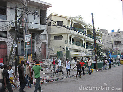 The disaster of haiti Editorial Stock Image
