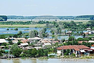 Disastrous Floods Hit Romania - July 5 Editorial Photo