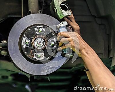 Disc brake of a car