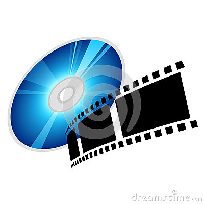 Disc and film, vector