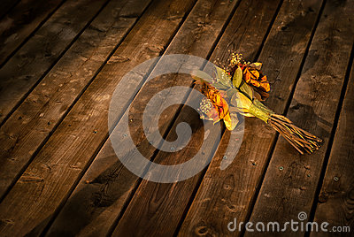Discarded Dried Flower Bouquet