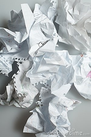 Discarded Paper-On White