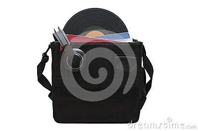 Discjokey suitcase to carry vinyl records