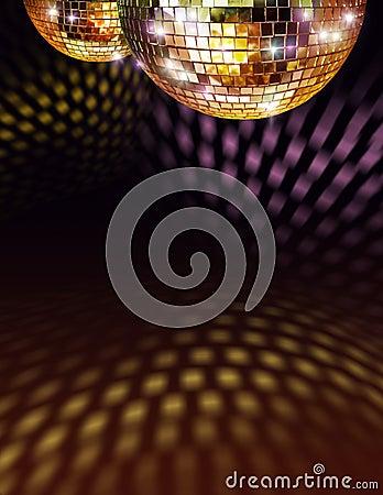 χρυσός καθρέφτης disco σφαιρών