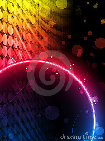 Disco Abstract Circle Box Background