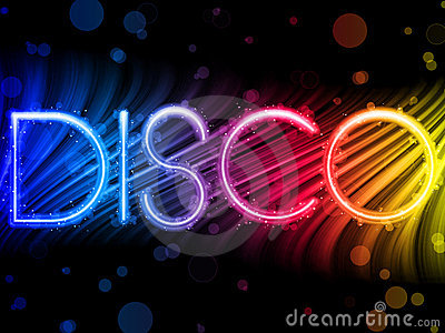 Disco Abstract Colorful Waves