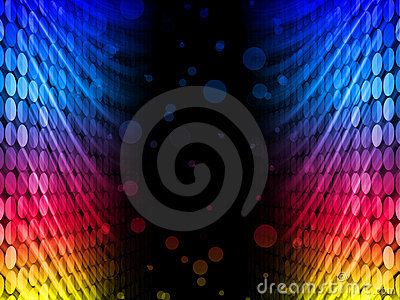 Disco Abstract Colorful Waves Background
