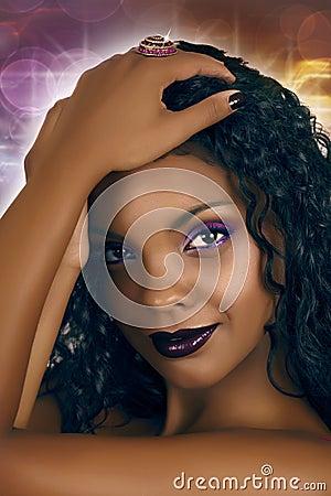 Disco African woman